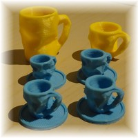 Small Crushed Espresso cup 3D Printing 1304