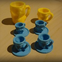 Small Crushed Coffee cup 3D Printing 1305