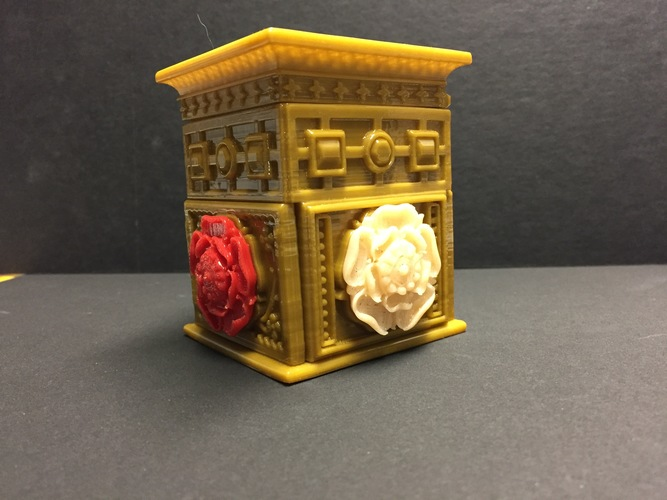 The Tudor Rose Box (with secret lock) 3D Print 13126