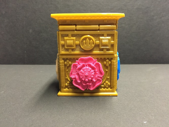 The Tudor Rose Box (with secret lock) 3D Print 13127