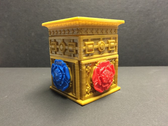 The Tudor Rose Box (with secret lock) 3D Print 13128