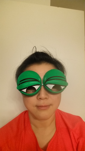 Pepe the Frog Holloween Costume Eyeglasses Tie-on 3D Print 13171