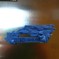 Small North Carolina Fridge Magnet 3D Printing 13195