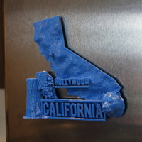 Small California Magnet 3D Printing 13199