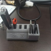 Small Tomi 3D Usb & SD Card holder 3D Printing 13286