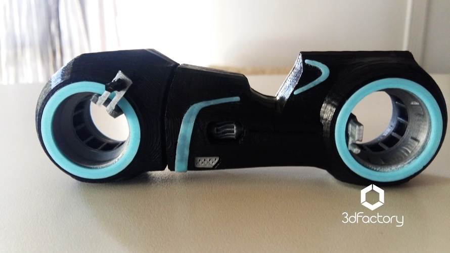 Tron Legacy Light Cycle - 3dPrintable - 3dFactory Brasil 3D Print 13400