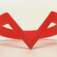 Small Triangle Cuff (10mm) 3D Printing 1341