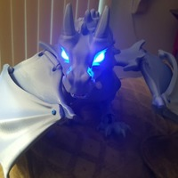 "Small ""Braq""  jointed dragon 3D Printing 13431"