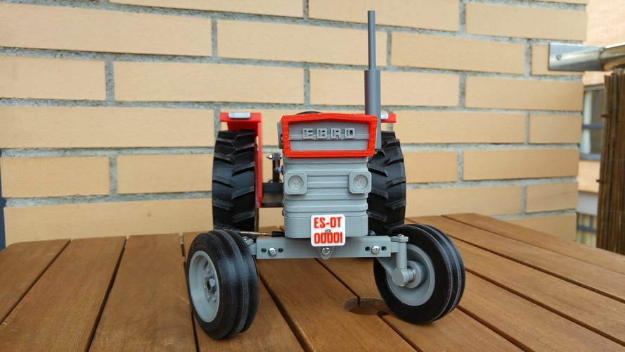 OpenRC Tractor 3D Print 13478
