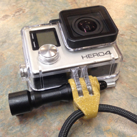 Small GoPro Wrist Strap Mount 3D Printing 13485