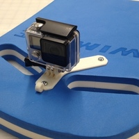 Small GoPro Kick Board Mount 3D Printing 13486