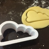 Small Cloud cookie-cutter 3D Printing 1350