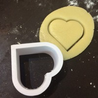 Small Heart cookie cutter 3D Printing 1351