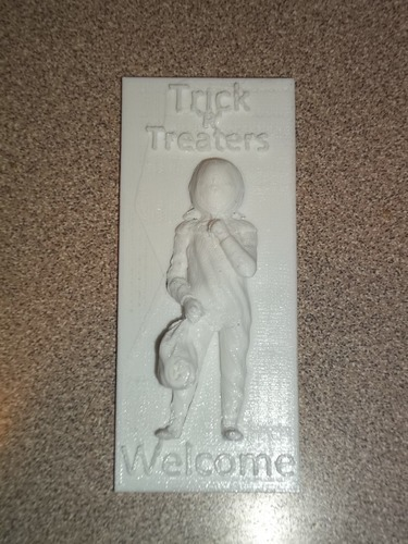 Trick 'r' Treaters welcome sign 3D Print 13571