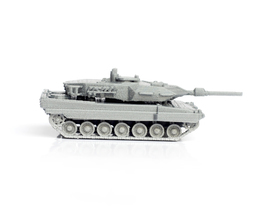 Pin container leopard tank simple model kit 3d printing 63597