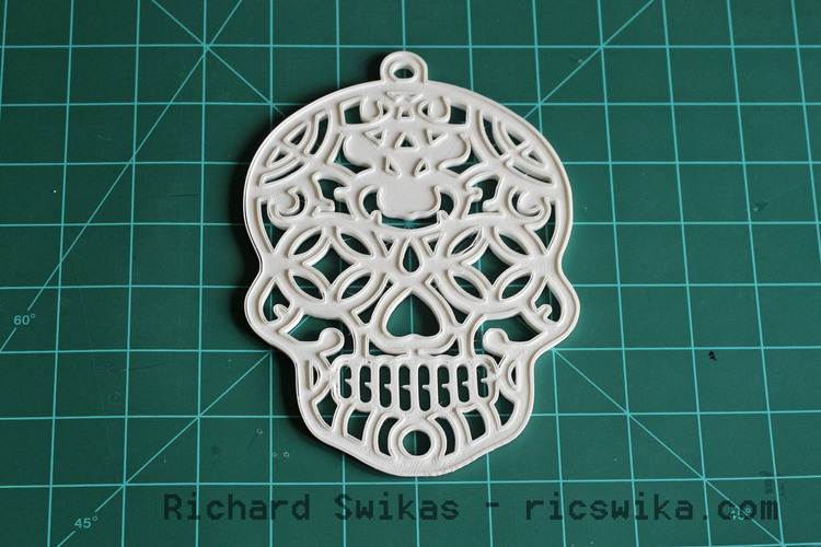 Sugar Skull Halloween Decoration 3D Print 13860