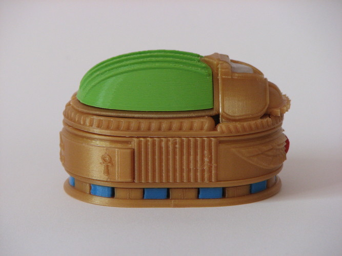 Scarab Beetle Box (with secret lock) 3D Print 13883