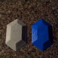 Small Rupee Magnet (The Legend of Zelda) 3D Printing 13902