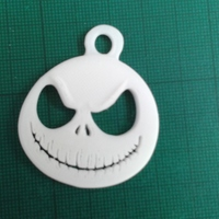 Small Jack Skellington key fob 3D Printing 13915