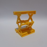 Small Platform Jack [Fully Assembled, No Supports] 3D Printing 13932