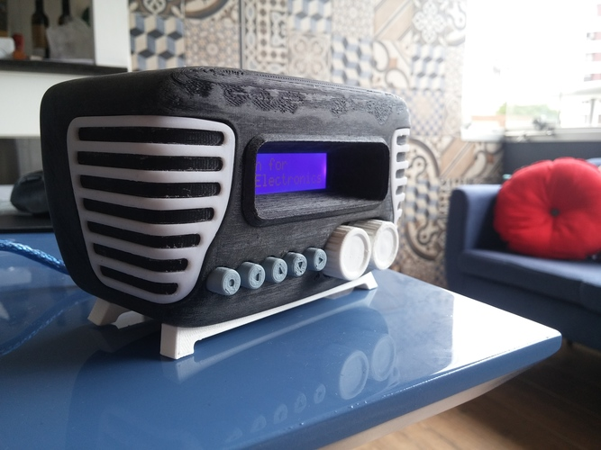 Mini Vintage Internet Radio 3D Print 13957