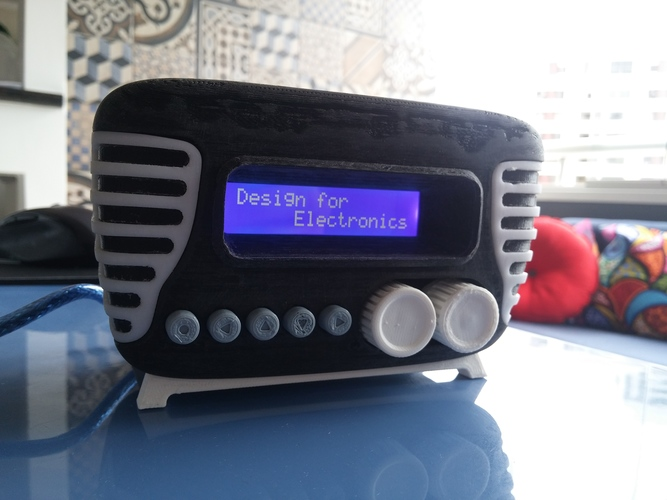 Mini Vintage Internet Radio 3D Print 13958