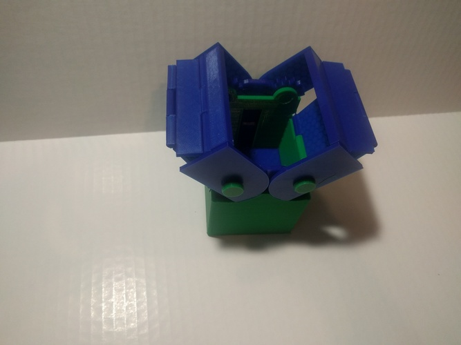 Improved Deck Box with Gears for Magic the Gathering EDH Command 3D Print 13974