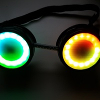 Small Steampunk Googles LED ring holder 3D Printing 13983