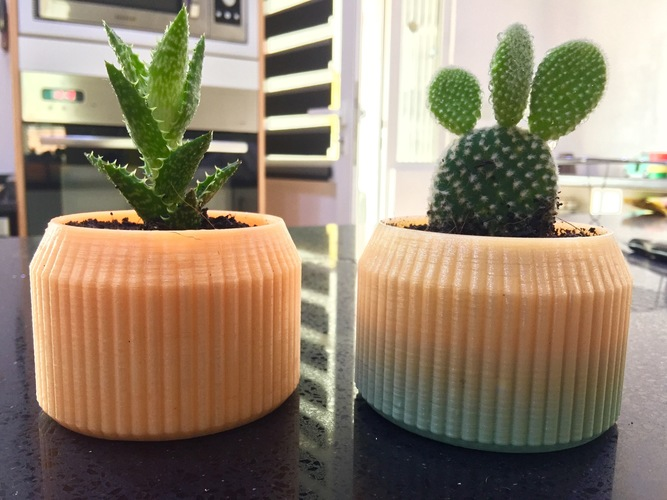 Striped Pot 3D Print 14029