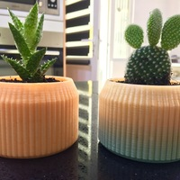 Small Striped Pot 3D Printing 14029