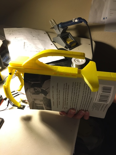 NightBook Holder with LED and Servo 3D Print 14134