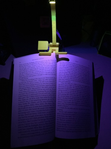 NightBook Holder with LED and Servo 3D Print 14153