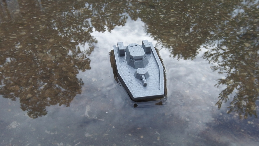 Gunboat(low poly) code name: Nerpa 3D Print 1418