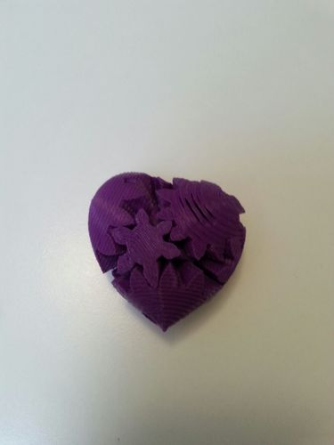 Screwless Heart Gears - Plated 3D Print 14185