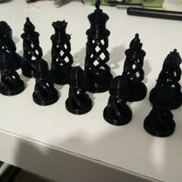Small Spiral Chess Set (Large) 3D Printing 14188