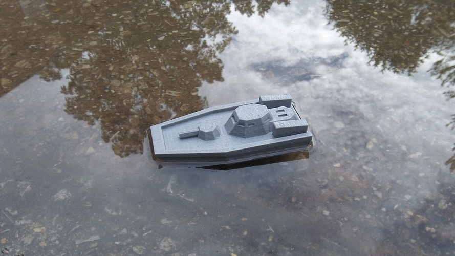 Gunboat(low poly) code name: Nerpa 3D Print 1419