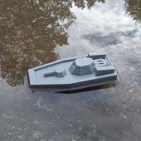 Small  Gunboat(low poly) code name: Nerpa 3D Printing 1419