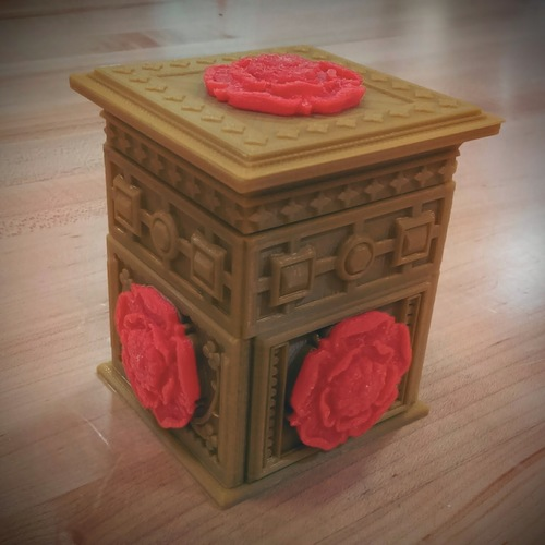 The Tudor Rose Box (with secret lock) 3D Print 14222