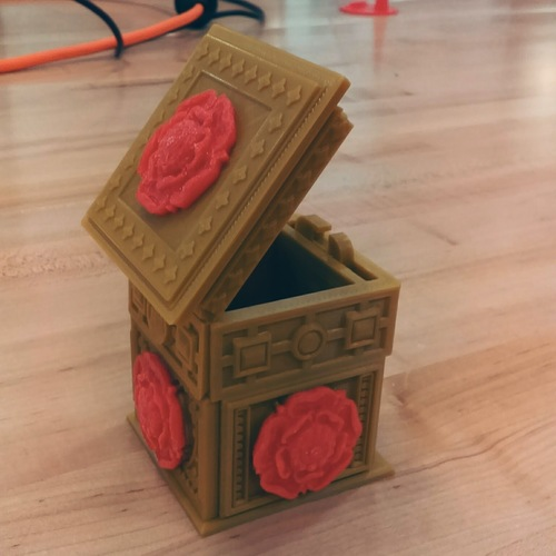 The Tudor Rose Box (with secret lock) 3D Print 14224