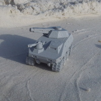 Small Mk.V (Okapi) A.M.V.P. fictional armored vehicle 3D Printing 1424