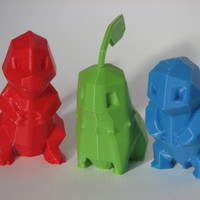 Small Low Poly Pokemon  3D Printing 14264