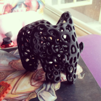 Small Elephant - Voronoi Style 3D Printing 1435