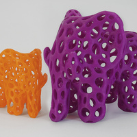 Small Elephant - Voronoi Style 3D Printing 14369