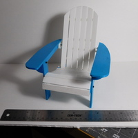 Small Adirondack Chair 3D Printing 14389