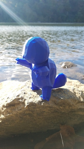 High-Poly Squirtle 3D Print 14460