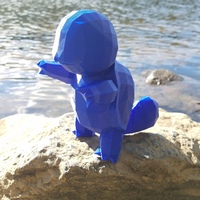 Small High-Poly Squirtle 3D Printing 14460