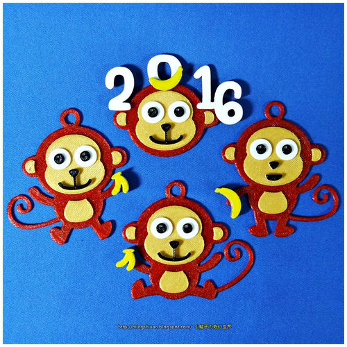 2016  YEAR OF The MONKEY-Keychain / Magnets  3D Print 14528
