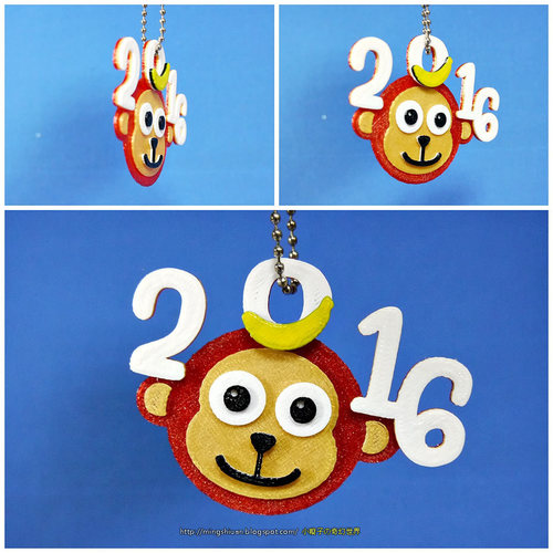 2016  YEAR OF The MONKEY-Keychain / Magnets  3D Print 14529