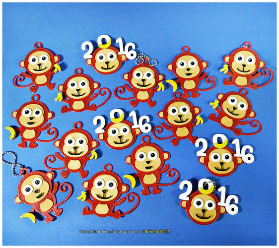2016  YEAR OF The MONKEY-Keychain / Magnets  3D Print 14531