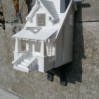 Small the American Craftsman Bungalow Birdhouse 3D Printing 14538